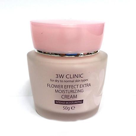 Kem dưỡng 3W Clinic Flower Effect Extra Moisturizing Cream 3
