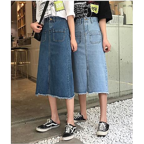 Chân váy JEAN nữ dáng dài dễ thương - CV09 4
