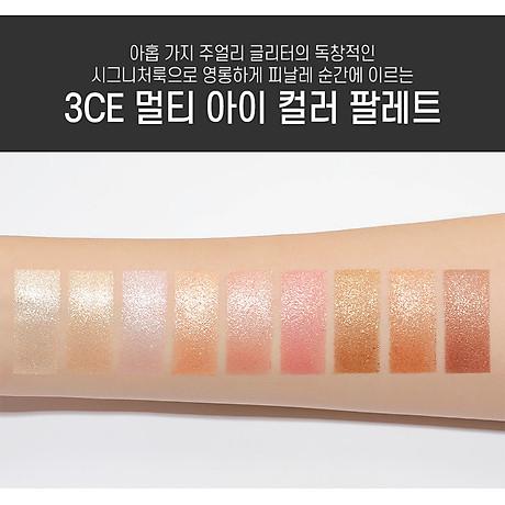 Bảng Phấn Mắt 9 Màu Dạng Nhũ Lấp Lánh Ánh Sao 3CE Multi Eye Color Palette All Nighter 4