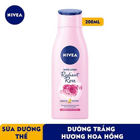 Sữa Dưỡng Thể Dưỡng Trắng NIVEA Hương Hoa Hồng Radiant Rose (200ml) - 85706 2