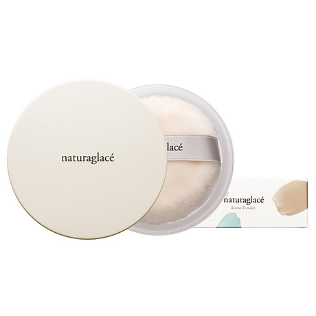 Phấn phủ hữu cơ chống nắng dạng bột size mini-naturaglacé LOOSE POWDER-01 Màu da sáng 2