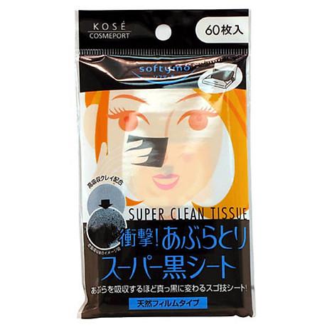 Giấy thấm dầu Kose Softymo than hoạt tính (60 tờ) nội địa Nhật Bản 1