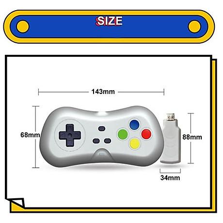 Máy Chơi Game 4K Điện Tử 4 Nút 638 Trò - Phiên Bản 2 Tay Cầm Chơi Game - Cắm Cổng HDMI - Kết Nối Không Dây (tặng chai dầu tràm hoa nén) Máy được giao theo màu ngẫu nhiên 2