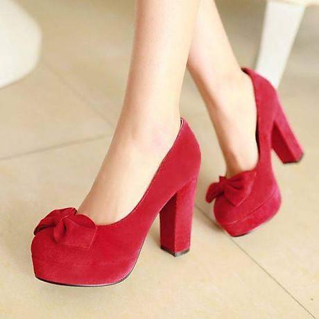 Giày cao gót 10cm mũi phối nơ cách điệu cao cấp 3