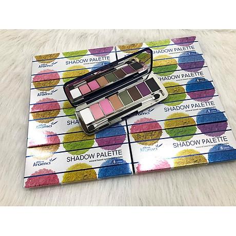 Phấn mắt 8 ô siêu mịn Mira Aroma Shadow Palette 8 Colors Hàn Quốc (2g x8) No.1 tặng kèm móc khoá 7