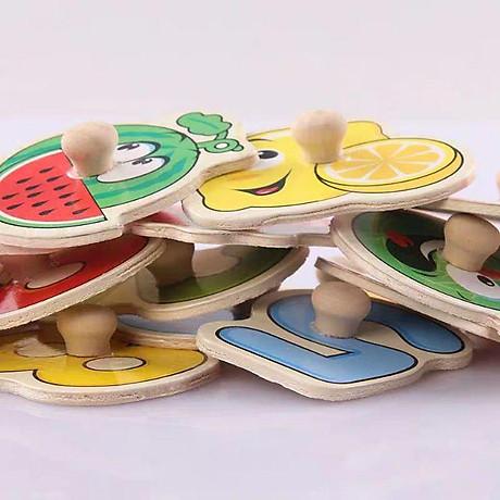 Đồ chơi lắp ráp bảng núm gỗ cho bé (23x30x0.5) 7