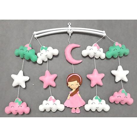 Treo nôi handmade màu sắc công chúa mây xanh ngọc kích thích thị giác cho bé 1