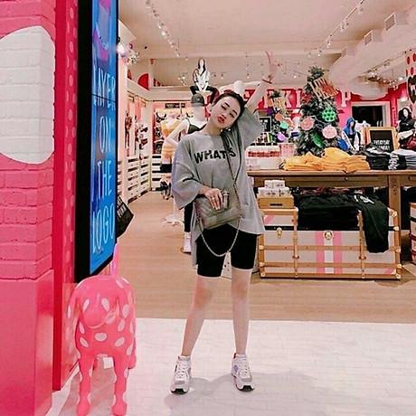 Quần legging đùi vải thun cotton dày cao cấp dùng cho đi chơi, đi tập thể thao, du lịch, mặc nhà 7