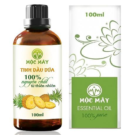 Tinh dầu Dứa (thơm, khớm) 100ml Mộc Mây - tinh dầu thiên nhiên nguyên chất 100% - chất lượng và mùi hương vượt trội - Có kiểm định - Mùi nhiệt đới, mát, ngọt ngào, sản khoái...mùi của tuổi trẻ và sự thư giản 1