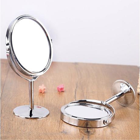 Gương trang điểm để bàn đứng thép không gỉ sang trọng 3