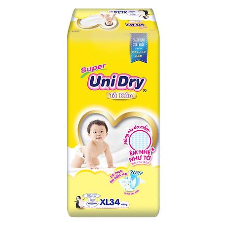 Tã Dán Cho Bé Unidry (G6+) Size XL34 (34 miếng) 1