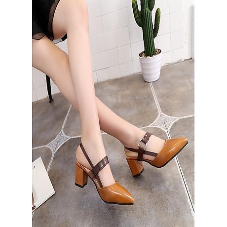 Giày gót vuông khóa kiểu cao cấp hàng nhập - CG2051 1