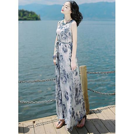 Đầm maxi họa tiết cao cấp BY4163 2
