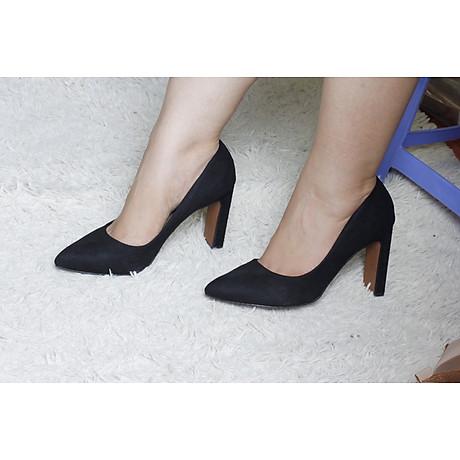 giày cao gót da lộn 7cm 2