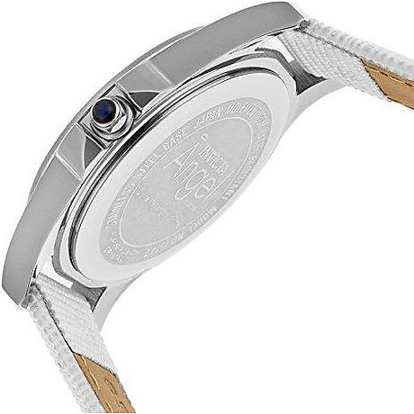 Invicta Women s 15147 Angel Stainless Steel and White Leather Watch 2