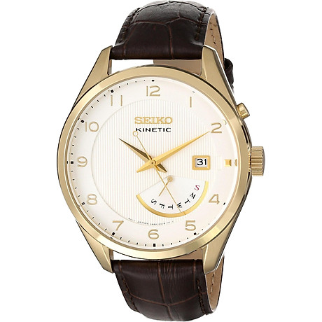 Seiko Men s SRN052 Stainless Steel Watch with Leather Band 1