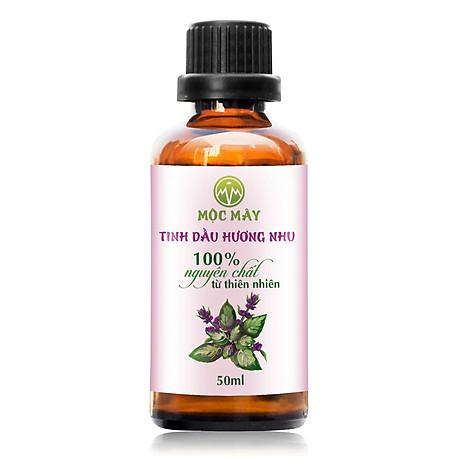 Tinh dầu Hương Nhu 50ml Mộc Mây - tinh dầu thiên nhiên nguyên chất 100% - chất lượng và mùi hương vượt trội - chuyên gia chăm sóc tóc hư tổn 1