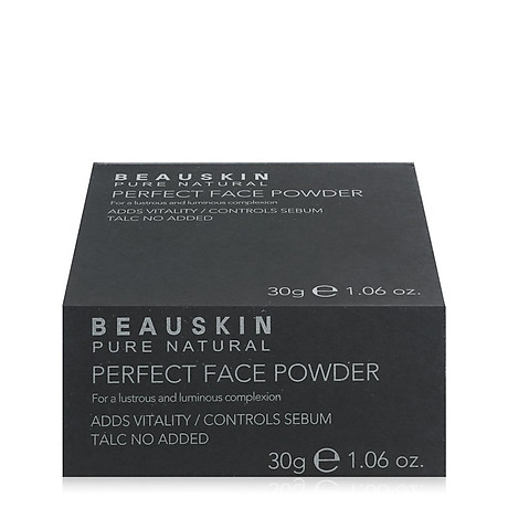 Phấn phủ bột Beauskin Perfect Face Powder Hàn Quốc 30g 21 Natural Beige tặng kèm móc khoá 3
