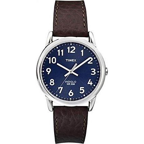 Timex Men s T2P319 Easy Reader Brown Leather Strap Watch 1