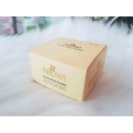 Phấn phủ bột kiềm dầu Aroma Candy Shine Powder Hàn Quốc 10g No.103 Da trắng hồng tặng kèm móc khoá 8