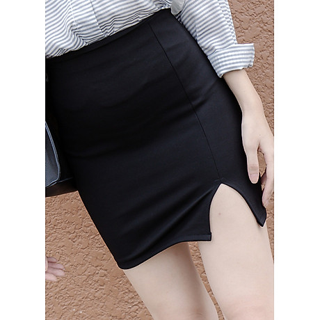 Chân váy xẻ trước thời trang 2