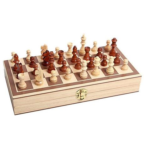 Bộ cờ vua cao cấp, đồ chơi làm bằng gỗ tự nhiên không độc hại dành cho trẻ em, môn thể thao phát triển trí tuệ - Tặng Kèm Móc Khóa 4Tech. 5