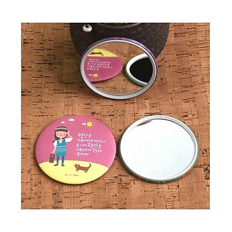 Gương mini Trang Điểm Hàn Quốc Tròn (Mẫu Ngẫu Nhiên) 6