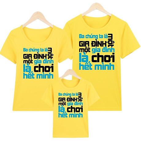 Áo thun nữ - áo gia đình in hình - GĐM14- Giá Trên là giá cho 1 chiếc áo 3