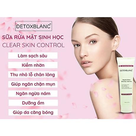 Sửa Rửa Mặt Chăm Sóc Da Mụn Nhạy Cảm Detox BlanC Clear Skin Control (mẫu mới) 2