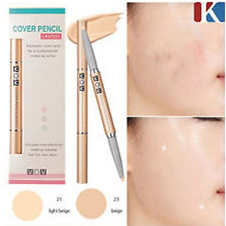 Chì che khuyết điểm Mira Cover Pencil Hàn Quốc tặng kèm móc khoá 5