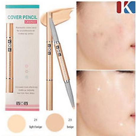 Chì che khuyết điểm Mira Cover Pencil Hàn Quốc No.23 beige tặng kèm móc khoá 4