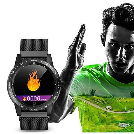 Đồng hồ thông minh đo nhịp tim, huyết áp T5 ( Sang trọng, độc đáo ) - Hàng Nhập Khẩu - Dây thép đen 3