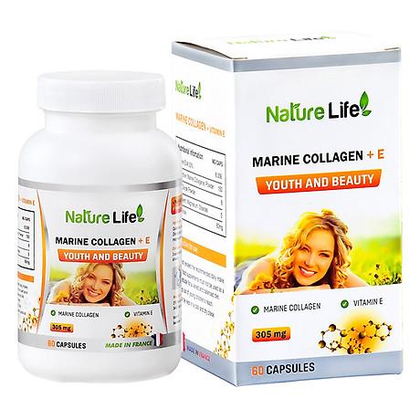 Viên Uống Marine Collagen +E Youth & Beauty NatureLife (60 viên) 2