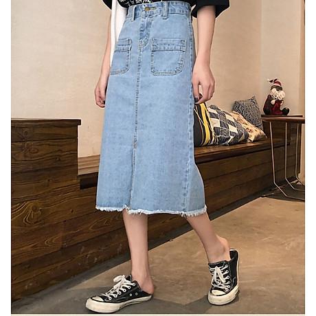 Chân váy JEAN nữ dáng dài dễ thương - CV09 6