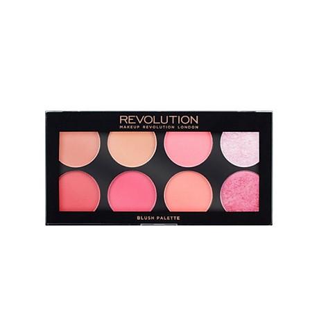 Bảng 3 in 1 phấn má highlight tạo khối Makeup Revolution Ultra Blush Palette 1