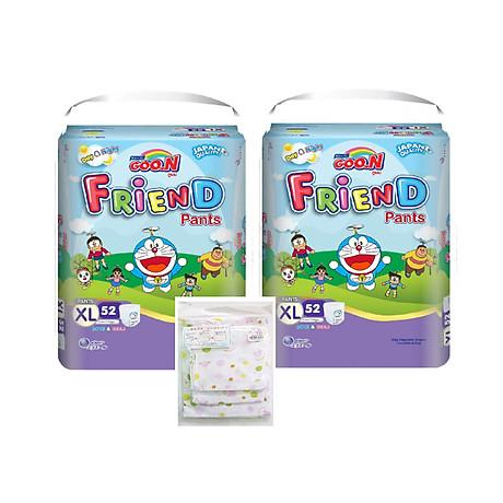 Combo 2 bịch Goon Friend siêu đại - Tặng Set 8 khăn xô in hình cho bé 1