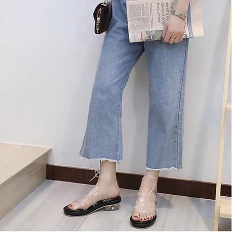 Giày sandal quai trong đế thấp phong cách gladiator S373 6