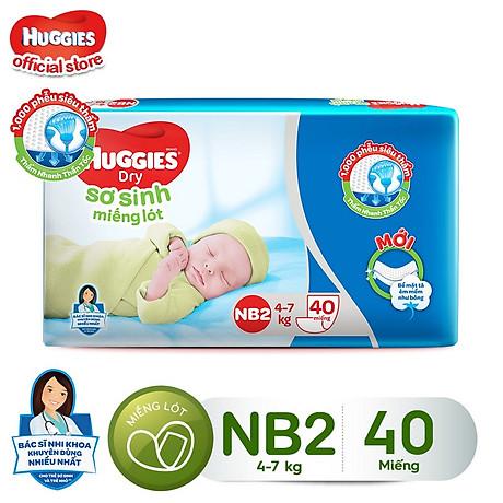 Miếng lót sơ sinh Huggies Newborn 2 - Gói 40 miếng 1