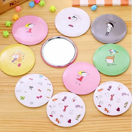 Combo 5 Gương mini bỏ túi siêu cute , nhỏ gọn xinh xắn thích hợp cho các bạn nữ có thể mang theo khắp mọi nơi GD222-GuongMN giao ngẫu nhiên 3