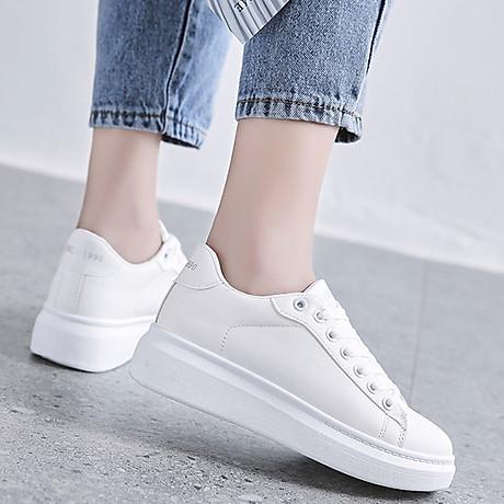 Giày thể thao sneaker nữ phong cách hàn quốc, màu trắng đế cao HMS-Sin1990 size từ 34 đến 40 3