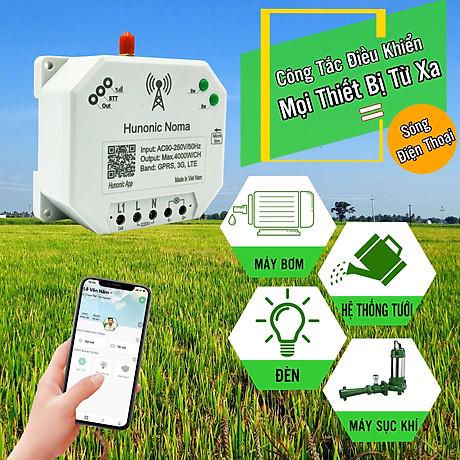 Công tắc thông minh Hunonic Noma Điều khiển mọi thiết bị từ xa qua điện thoại dùng sim- Hàng Việt Nam Chất Lượng Cao 1