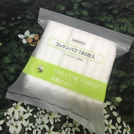 Combo 2 gói Bông Tẩy trang Miniso Japan (180 miếng x 2 gói) 3