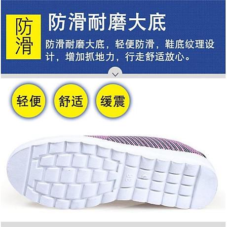 Giày lười nữ phong cách êm chân thoáng khí (full size full box) - chữ V - Size 36 đến 40 - V124 5