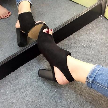 Giày bot vân gỗ quai rán 1