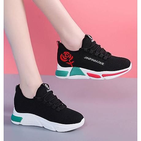 Giày sneaker thể thao nữ buộc dây phong cách hàn quốc màu đen, trắng size 36 đến 40 V179 2
