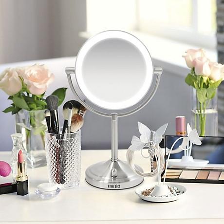 Gương trang điểm 2 mặt USA kèm đèn led điều chỉnh độ sáng HoMedics MIR-8150-EU ,đường kính lớn ,chất liệu Niken cao cấp nhập khẩu USA 7