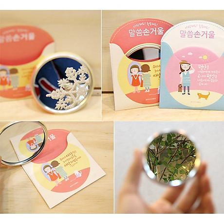 Gương mini Trang Điểm Hàn Quốc Tròn (Mẫu Ngẫu Nhiên) 3