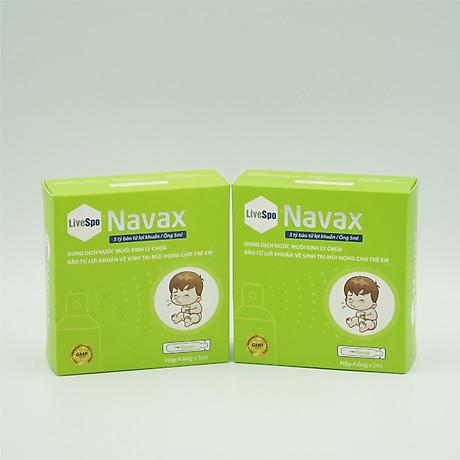 Bào tử lợi khuẩn Livespo Navax xịt tai mũi họng kháng viêm, diệt khuẩn hộp 1 xịt kèm 1 ống cho trẻ 7