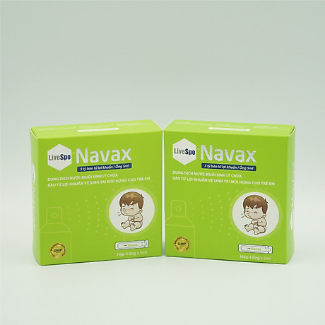 Lợi khuẩn Navax vệ sinh và ngừa viêm tai, mũi, họng bảo vệ và phục hồi niêm mạc mũi của trẻ 8
