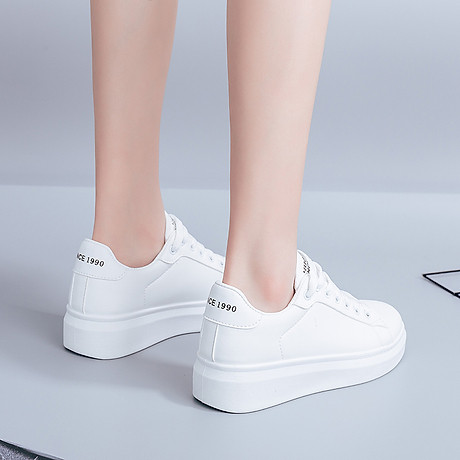Giày thể thao nữ - giày sneaker nữ mầu trắng đế cao ST008W 3